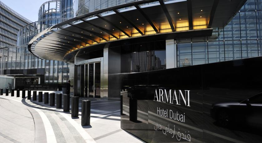 Entrada privativa do Armani Hotel Dubai
